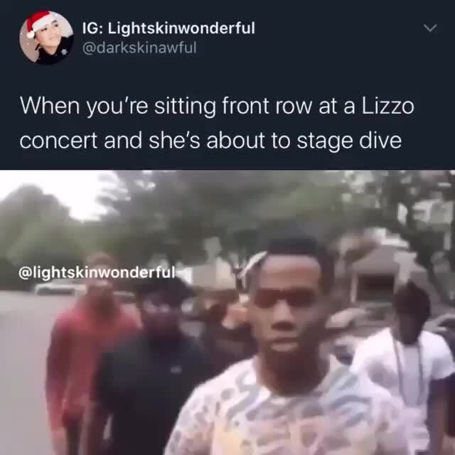 Lizzo stage dive