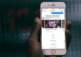 Get notified when new music drops